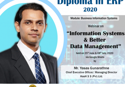 Webinar on Information Systems & Better Data Management