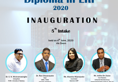 Inauguration Ceremony of Diploma in ERP 2020