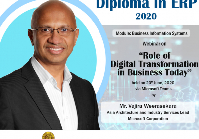 Webinar on Role of Digital Transformation in Business Today