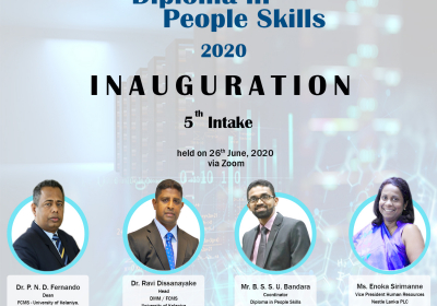 Inauguration Ceremony of the 5th Batch of Diploma in People Skills